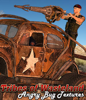 Tribes of Wasteland - Angry Bug Textures 2D Graphics 3D Models Cybertenko