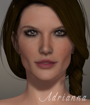 Adrianna for V4.2 3D Figure Essentials xtrart-3d