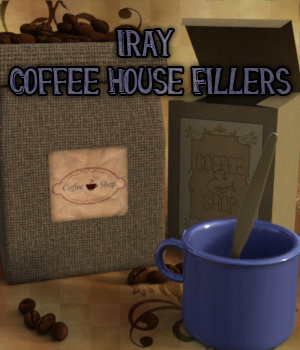 Iray Coffee House Fillers 3D Models fictionalbookshelf