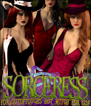 Sorceress for HOT Witch 3D Figure Assets ShanasSoulmate