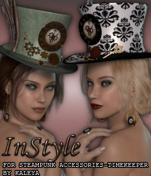 InStyle - Steampunk Accessories - Timekeeper 3D Figure Assets -Valkyrie-