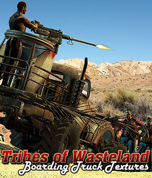 Tribes of Wasteland 2 - Boarding Truck Textures 2D 3D Models Cybertenko