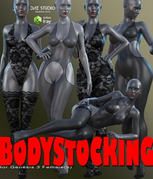 Bodystocking for Genesis 3 Female(s) 3D Figure Assets RainbowLight