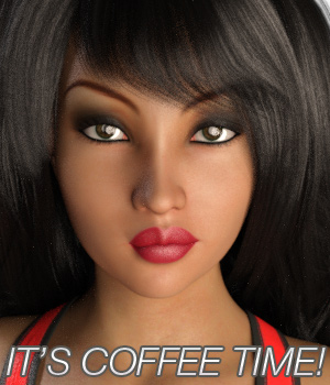 IT'S COFFEE TIME! EXPRESSIONS FOR G3F 3D Figure Essentials Anagord