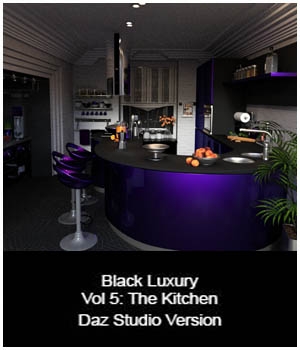 Black Luxury Vol 5: The Kitchen DS 3D Figure Essentials 3D Models ICRDesign