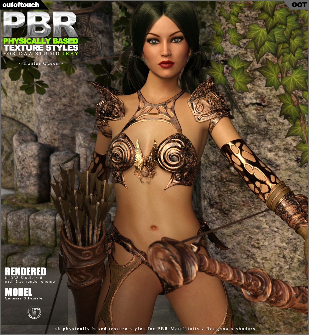 OOT PBR Texture Styles for Hunter Queen by outoftouch
