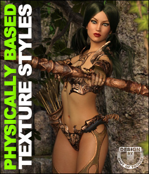 OOT PBR Texture Styles for Hunter Queen 3D Figure Essentials outoftouch