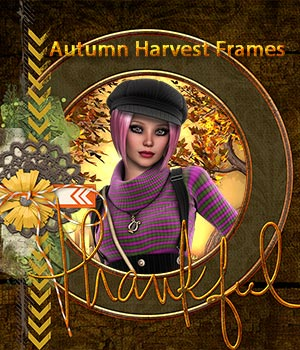 Crystal46 Autumn Harvest Frames 2D Graphics Crystal46