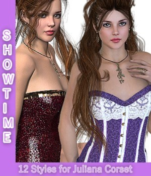 Showtime - for Juliana Corset 3D Figure Assets LUNA3D