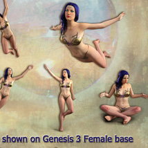 FAIRY POSES and Backgrounds for Light Elf & G3F image 3