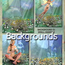 FAIRY POSES and Backgrounds for Light Elf & G3F image 4