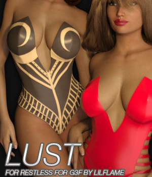 LUST - Restless for Genesis 3 Females 3D Figure Essentials Anagord