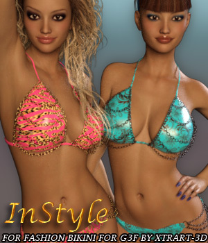 InStyle - Fashion Bikini for Genesis 3 Female 3D Figure Assets -Valkyrie-