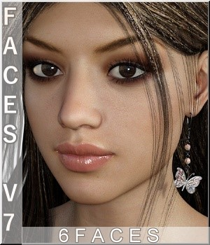 Faces - V7/G3 Merchant-Resource 3D Figure Essentials LUNA3D
