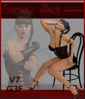 Sexy Act - V7-G3F 3D Figure Essentials ilona