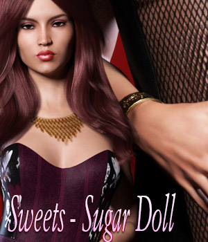 Sweets - Sugar Doll 3D Figure Assets kaleya