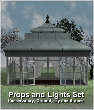 The Conservatory Prop Set 3D Models Lully