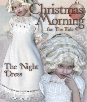 Christmas Morning - The Night Dress 3D Figure Assets Tipol
