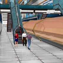 Future Now Train Station (for Poser) image 1