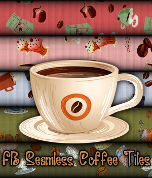 FB Seamless Coffee Tiles - Merchant Resource 2D Graphics Merchant Resources fictionalbookshelf