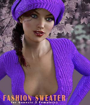Fashion Sweater for Genesis 3 Female 3D Figure Assets xtrart-3d