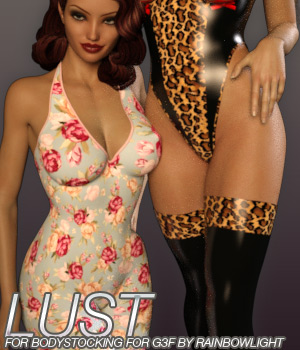 LUST - Bodystocking for Genesis 3 Female(s) 3D Figure Essentials Anagord
