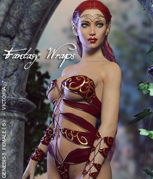 Fantasy Wraps for Genesis 3 Female(s) 3D Figure Assets lilflame