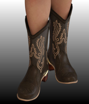 Sweet Country Boots 3D Figure Assets WildDesigns