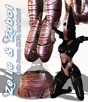Zelle & Zobot 3D Figure Essentials 3D Models Darkworld