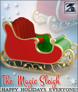 Z The Magic Sleigh - Daz & Poser 3D Models Zeddicuss