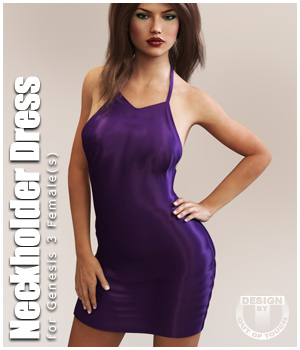 Neckholder Dress for Genesis 3 Female(s) 3D Figure Assets outoftouch