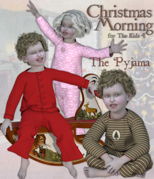 Christmas Morning - The Pyjama 3D Figure Assets 3D Models Tipol