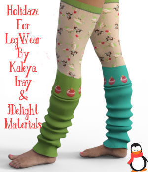 Holidaze For LegWear BY Kaleya 3D Figure Assets fictionalbookshelf