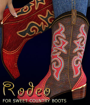 Rodeo for Sweet Country Boots Genesis 3 Female(s) 3D Figure Essentials 3DSublimeProductions