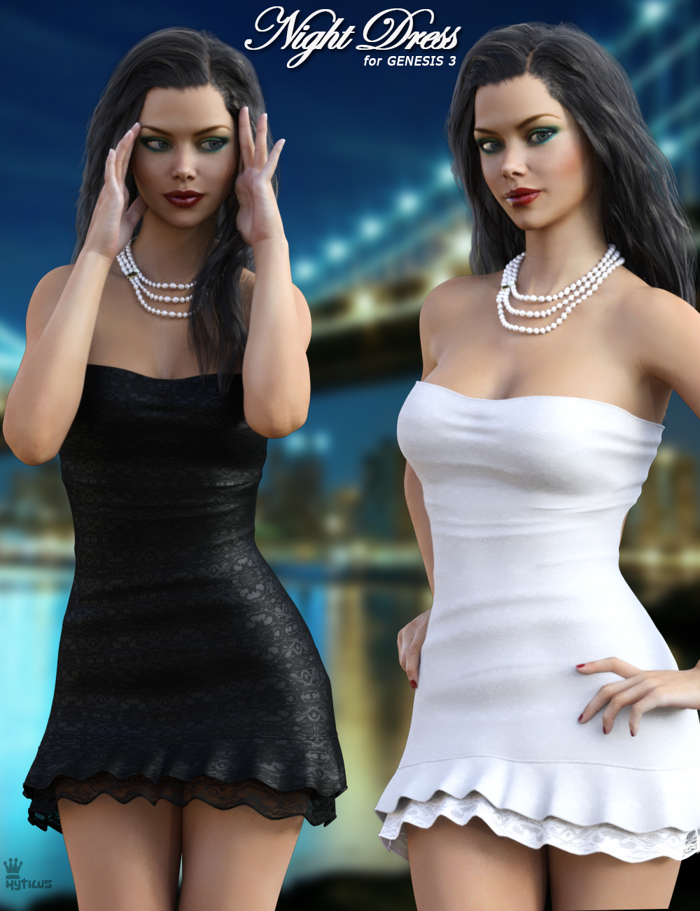Night Dress For Genesis 3