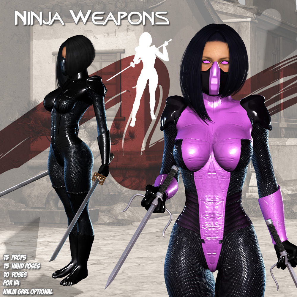 Ninja Weapons by Darkworld
