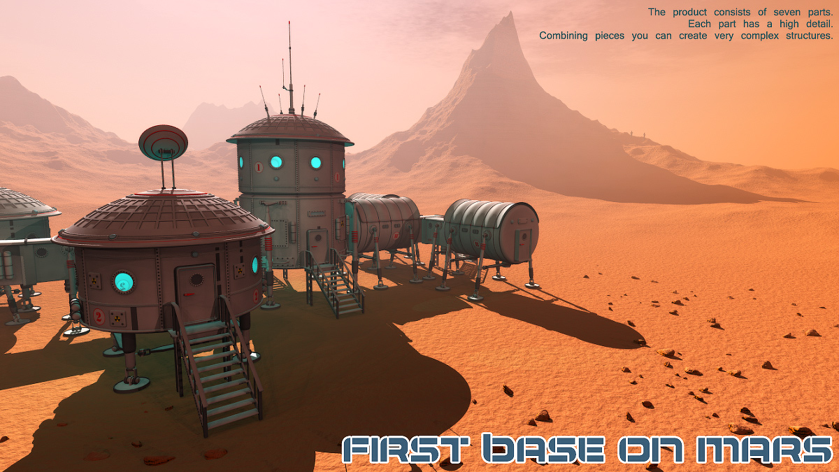 First base on Mars