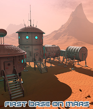 First base on Mars 3D Models 1971s