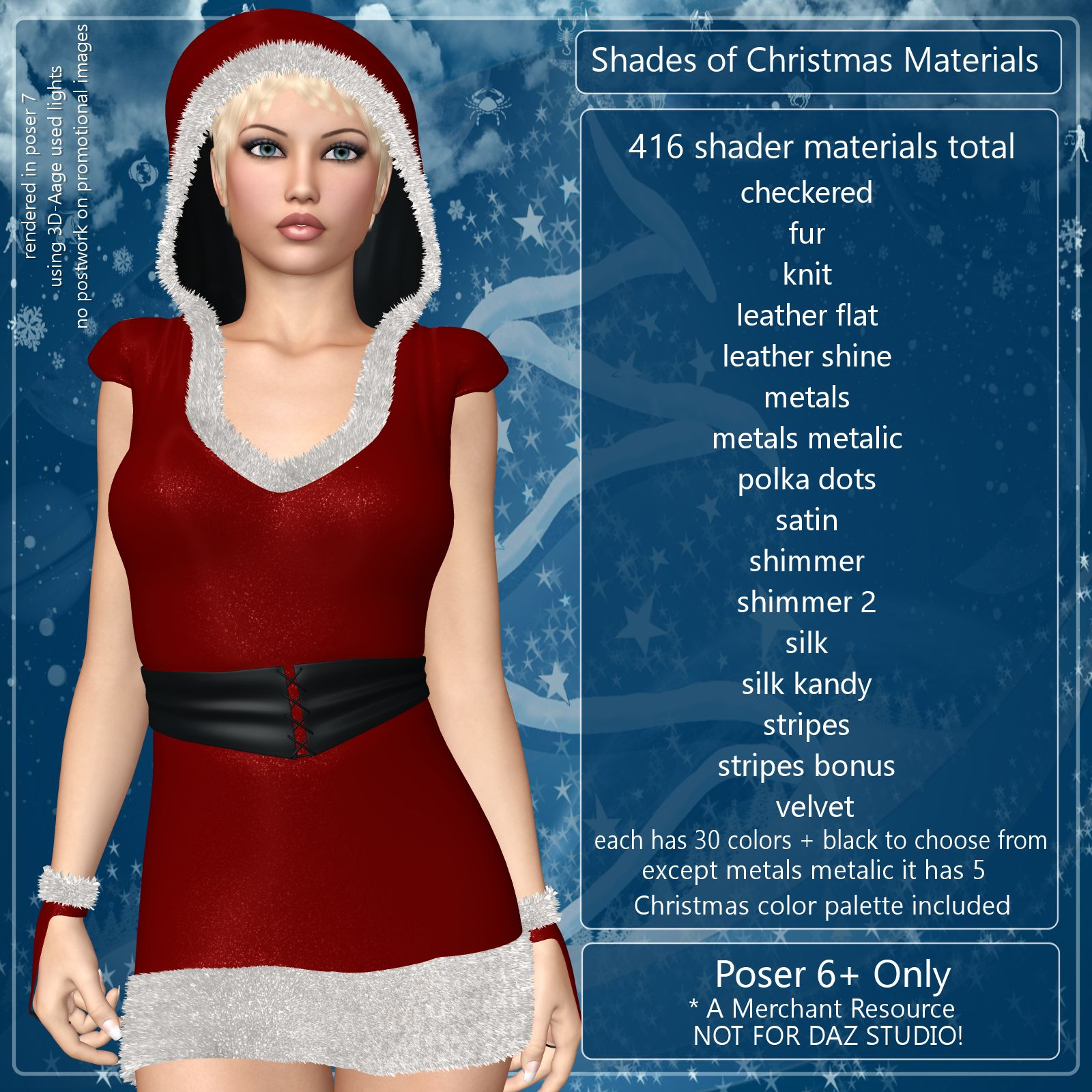 Shades of Christmas Poser Materials by ANG3L_R3D