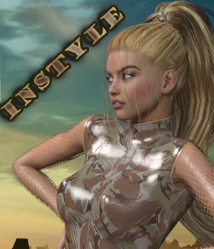 InStyle - Zipped Leather Suit for Genesis 2 Female(s) 3D Figure Assets -Valkyrie-