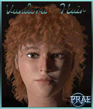 Prae-Vandora Hair For Pauline 3D Figure Assets prae