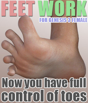 Feet Work for G3F 3D Figure Assets powerage