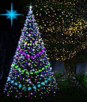 Christmas and Fairy star lights for Daz Iray (emissive light props) 3D Models labellamagica