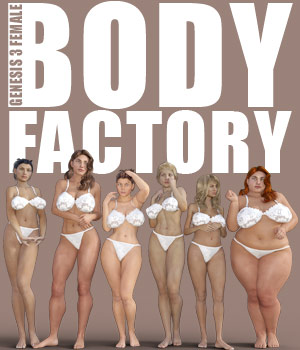 Body Factory for G3F 3D Figure Assets powerage
