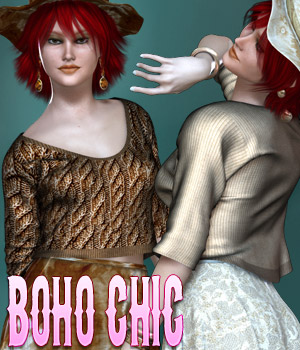Dynamic Collection - Boho Chic 3D Figure Assets kaleya