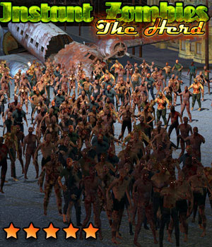 Instant Zombies 2: The Herd 3D Models Cybertenko