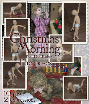 Christmas Morning - The Poses 3D Figure Assets Tipol
