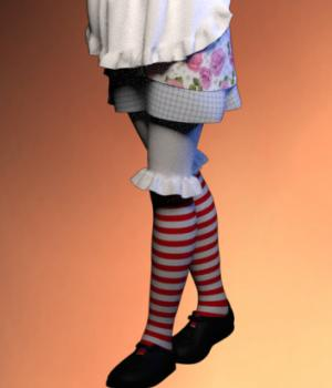 Raggedy Dress for G2F 3D Figure Essentials RPublishing