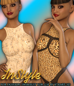 InStyle - Fashion Swimsuit for Genesis 3 Female 3D Figure Assets -Valkyrie-