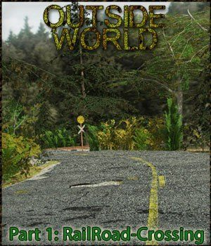Outside World: Part1 - Railroad Crossing Extended License 3D Models Gaming Extended Licenses 3-d-c